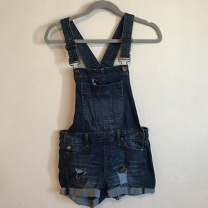 Denim Overalls / short overalls / stretchy
